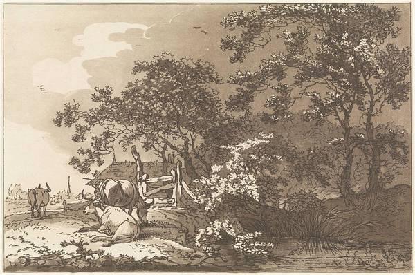 Meijer Painting - Landscape With Cows, Hendrik Meijer, 1789 - 1793 by Hendrik Meijer