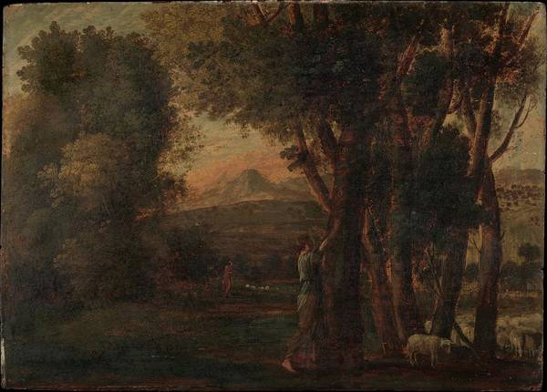 Wall Art - Painting - Landscape With Erminia by Claude Lorrain