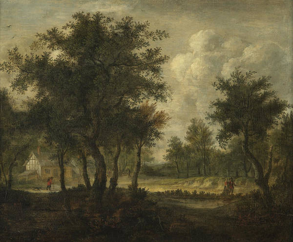 Meindert Hobbema Painting - Landscape With Figures by Meindert Hobbema