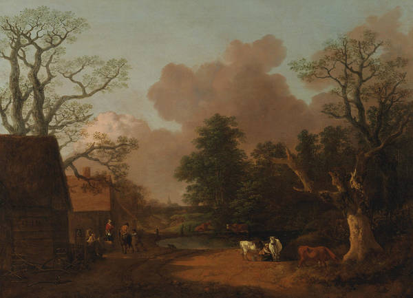 Painting - Landscape With Milkmaid by Thomas Gainsborough