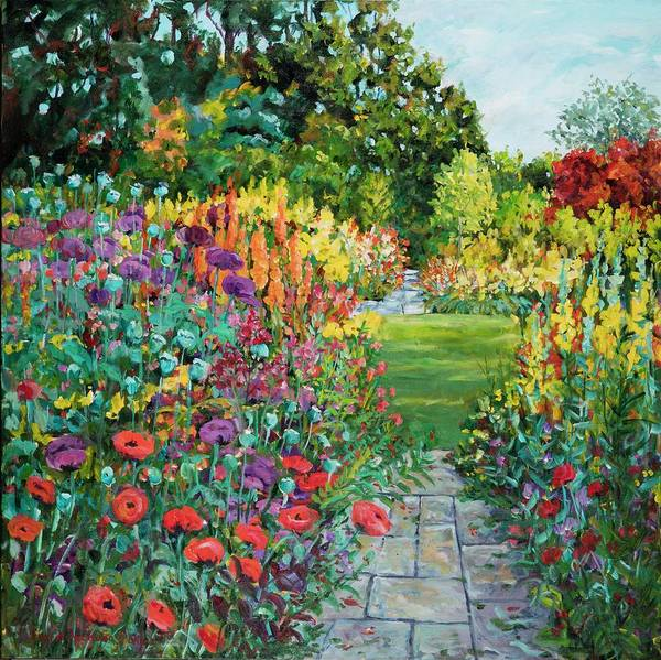 Painting - Landscape With Poppies by Ingrid Dohm