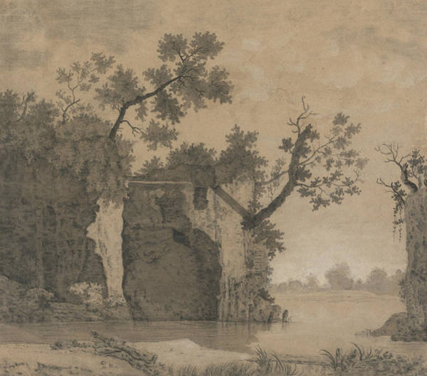 Drawing - Landscape With Ruins by Joseph Wright