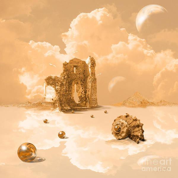 Digital Art - Landscape With Shell by Alexa Szlavics