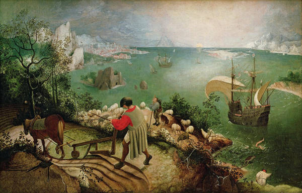 Elder Painting - Landscape With The Fall Of Icarus by Pieter Bruegel the Elder