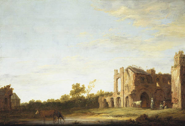 Cuyp Wall Art - Painting - Landscape With The Ruins Of Rijnsburg Abbey by Aelbert Cuyp