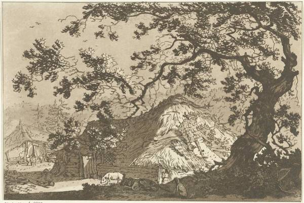 Meijer Painting - Landscape With Two Farms, Hendrik Meijer, 1789 - 1793 by Hendrik Meijer