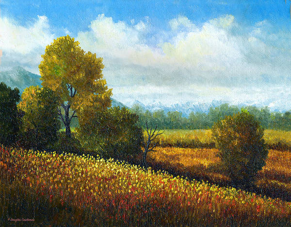 Painting - Landscape With Wildflowers 2 by Douglas Castleman