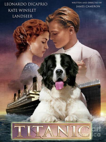 Wall Art - Painting - Landseer Art Canvas Print - Titanic Movie Poster by Sandra Sij