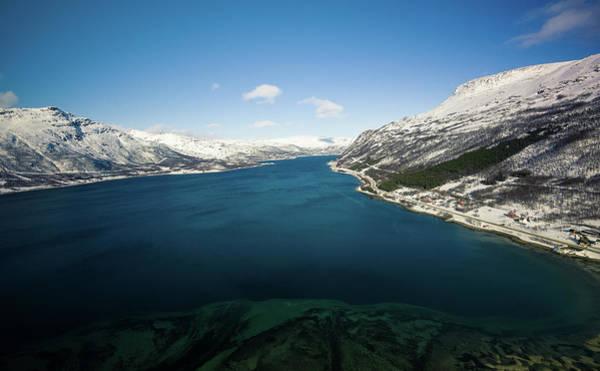 Photograph - Langfjorden Aerial Langfjordbotn Finnmark Norway by Adam Rainoff