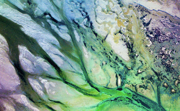 Photograph - Langfjorden Estuary Drift Aerial Finnmark Norway by Adam Rainoff