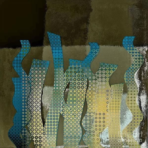 Yellow Ochre Wall Art - Digital Art - Languettes 02 - Ocr14c by Variance Collections