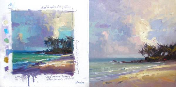 Wall Art - Painting - Laniakea Studies by Richard Robinson