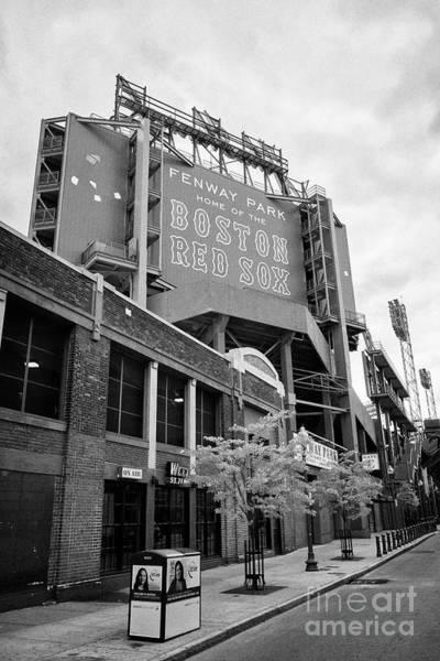 Wall Art - Photograph - lansdowne street entrance to Fenway park baseball stadium Boston USA by Joe Fox