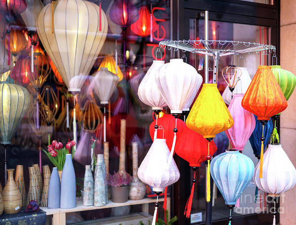 Photograph - Lantern Colors In Berlin by John Rizzuto