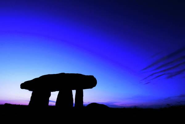 Celtic Mythology Wall Art - Photograph - Lanyon Quoit Silhouette  by Mark Stokes