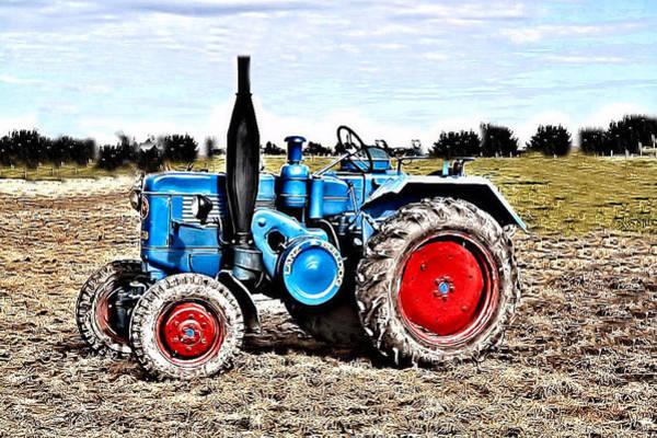 Babe Mixed Media - Lanz Bulldog Tractor by Thomas Schmidt