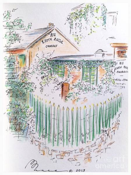 Quaint Drawing - Lapin Agile by Barbara Chase