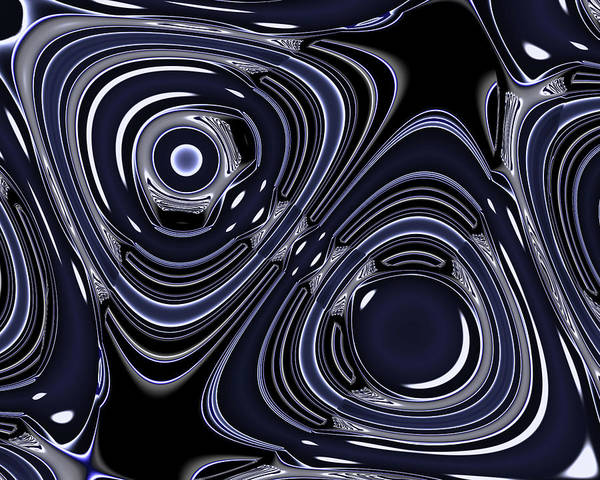 Digital Art - Lapis And Chrome Abstract by Judi Suni Hall