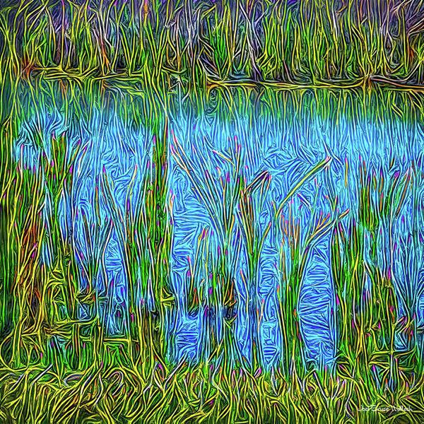 Digital Art - Lapis Lake Reflections by Joel Bruce Wallach