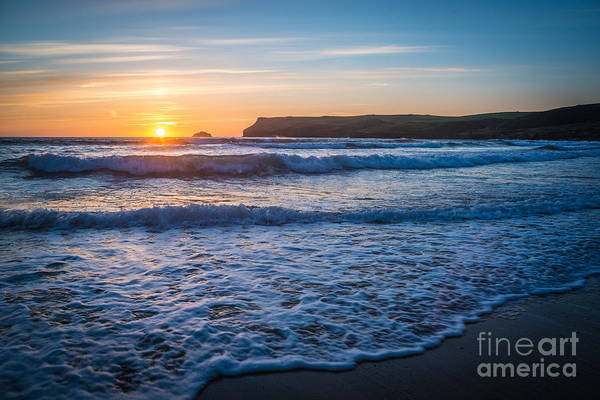 Wall Art - Photograph - Lapping Waves At Sunset by Amanda Elwell