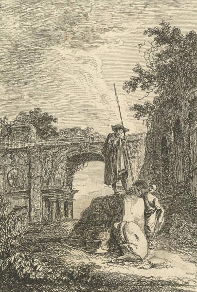 Wall Art - Relief - L'arc De Triomphe by Hubert Robert