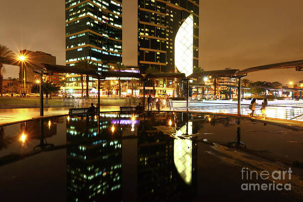 Photograph - Larcomar Reflections Miraflores Lima by James Brunker