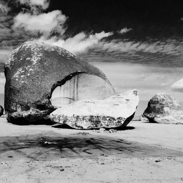 Fineart Wall Art - Photograph - Large Format 8x10 Shot Of Giant Rock In by Alex Snay