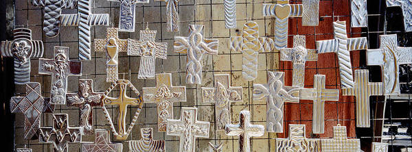 San Miguel De Allende Wall Art - Photograph - Large Group Of Crucifixes, San Miguel by Panoramic Images
