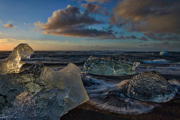 Photograph - Large Icebergs At Dawn #4 - Iceland by Stuart Litoff