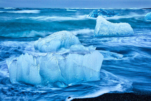 Photograph - Large Icebergs At Dawn #5 - Iceland by Stuart Litoff