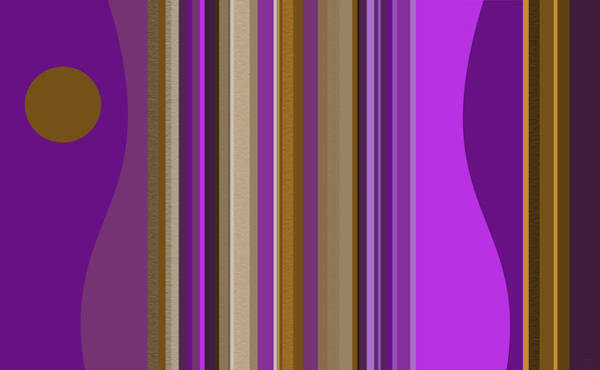 Digital Art - Large Purple Abstract by Val Arie