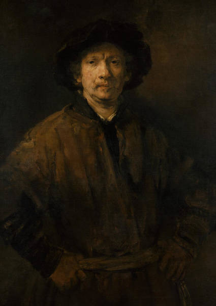 Painting - Large Self-portrait by Rembrandt