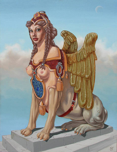 Painting - Large Sphinx Of The Vienna Belvedere by Victor Molev