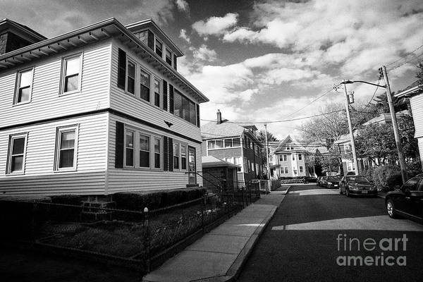 Wall Art - Photograph - large victorian style homes in savin hill avenue affluent residential victorian neighborhood Boston  by Joe Fox