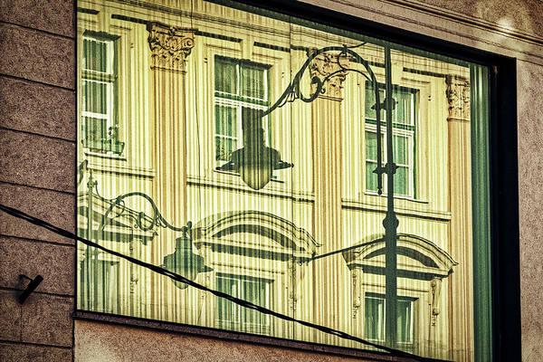 Photograph - Large Window Reflection - Sibiu Romania by Stuart Litoff