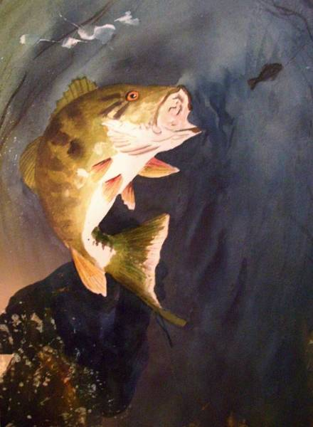 Painting - Largemouth Bass by Audrey Bunchkowski