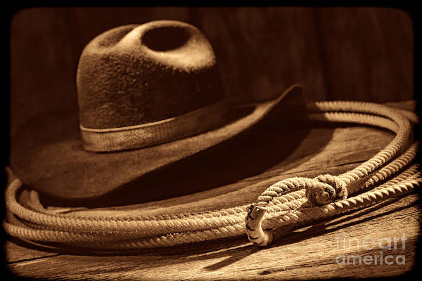 Photograph - Lariat And Hat by American West Legend By Olivier Le Queinec