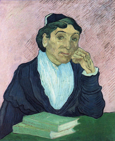 Casual Painting - L'arlesienne, Portrait Of Madame Ginoux, 1890 03 by Vincent Van Gogh
