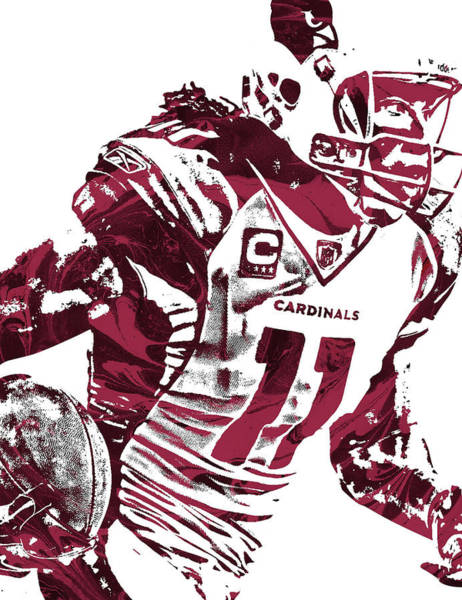 Cardinal Mixed Media - Larry Fitzgerald Arizona Cardinals Pixel Art 1 by Joe Hamilton