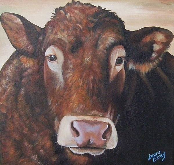 Hereford Bull Painting - Larry Limo by Laura Carey