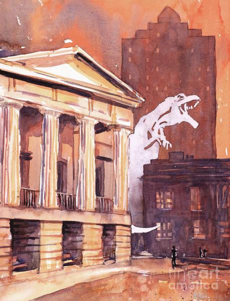 Downtown Raleigh Wall Art - Painting - Laryngitis Ruins Everything by Ryan Fox