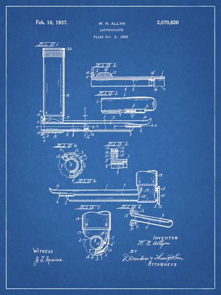 Drawing - Laryngoscope Patent by Dan Sproul