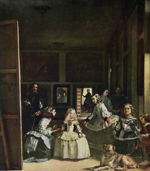 Velazquez Wall Art - Drawing - Las Meninas By Diego Velazquez. From by Vintage Design Pics