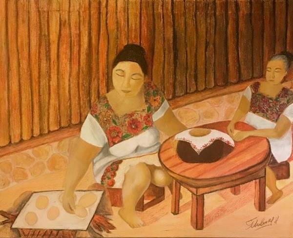 Painting - Las Mestizas by Thelma Delgado