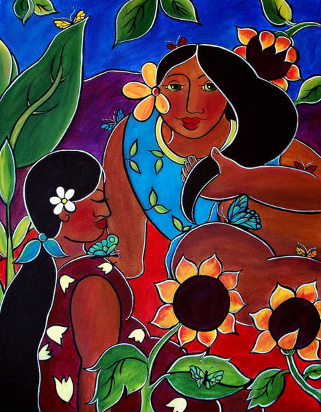 Painting - Las Mujeres  by Jan Oliver-Schultz