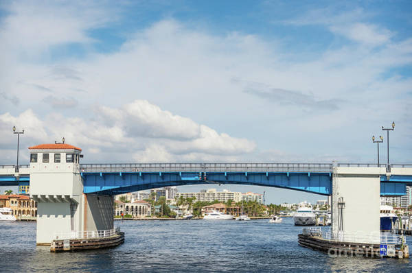 Photograph - Las Olas Draw Bridge Over The Intracoastal Waterway  by Les Palenik