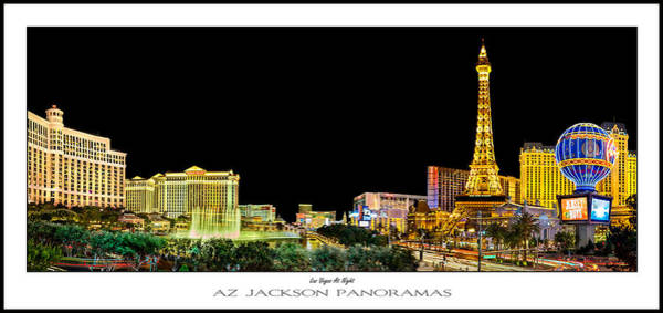 Flamingos Wall Art - Photograph - Las Vegas At Night Poster Print by Az Jackson