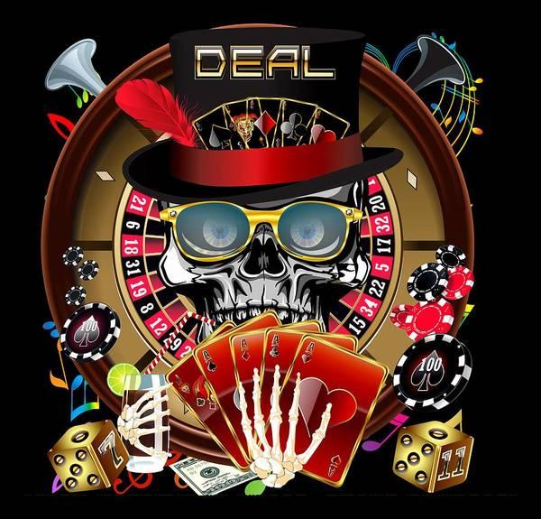 Deja Vu Digital Art - Las Vegas Casino 2 by Bill Campitelle