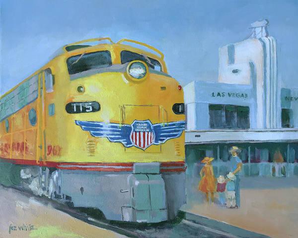 Diesel Trains Painting - Las Vegas Dream Train by Joe White