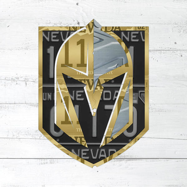 Wall Art - Mixed Media - Las Vegas Golden Knights Hockey License Plate Art by Design Turnpike